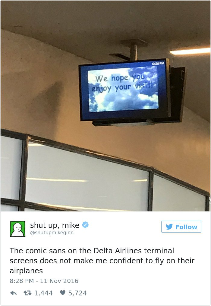 shut up mike tweet delta airlines