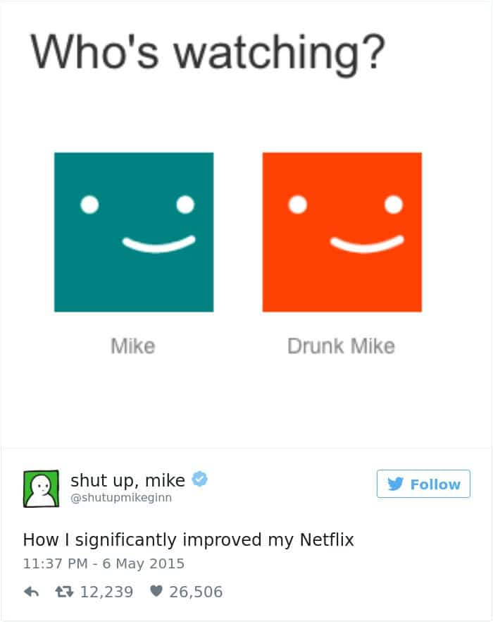 shut up mike tweet improve netflix