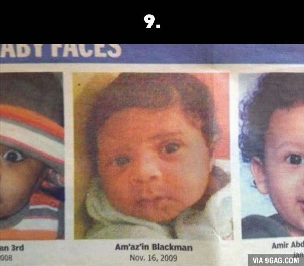 silly baby names amazing blackman