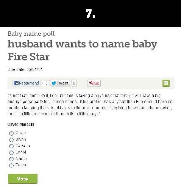 silly baby names fire star
