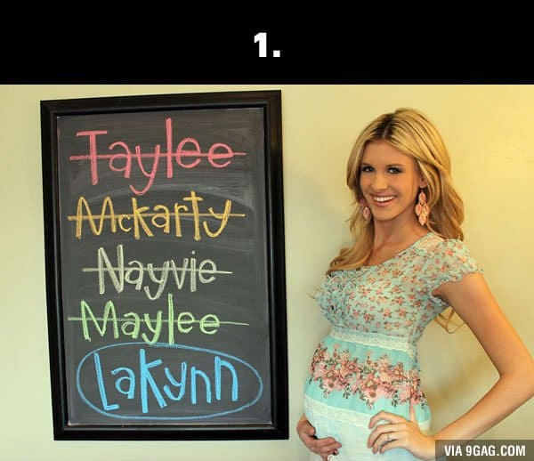 silly baby names lakynn