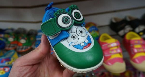 spongebob minion shoes knock off