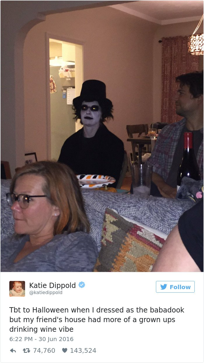tbt when i dressed as the babadook