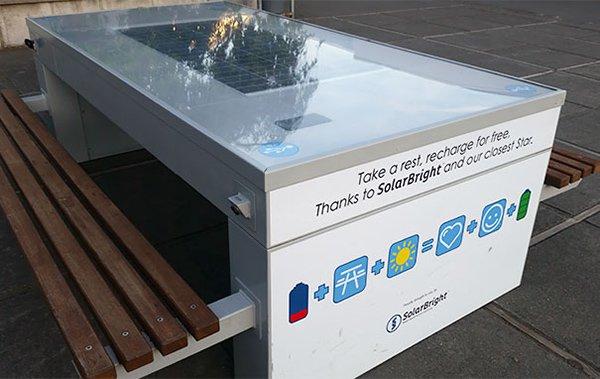 usb table solar energy