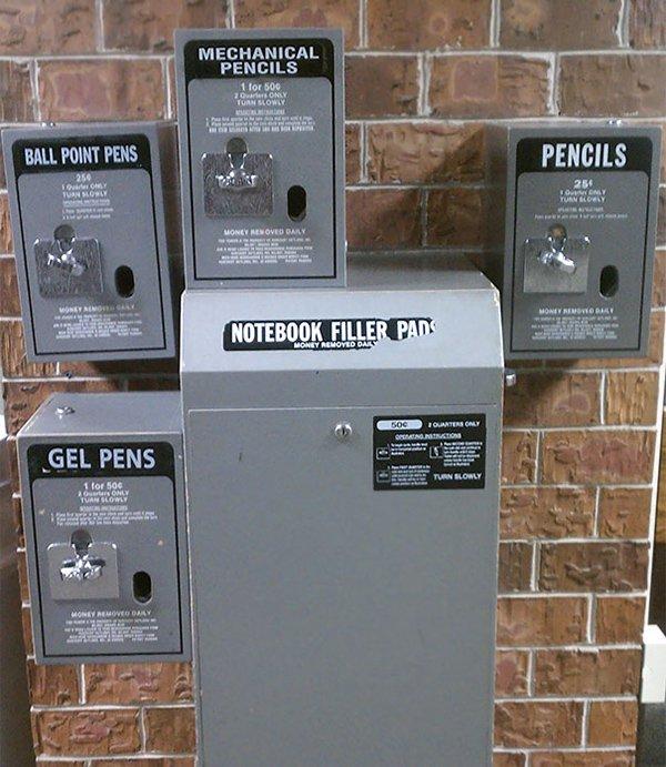 vending machine for school supplies