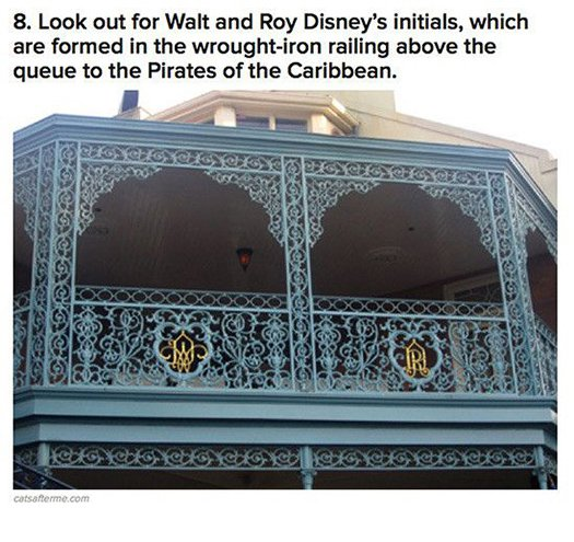 walt disney and roy initials pirates of the carribean