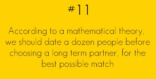 we should date a dozen people