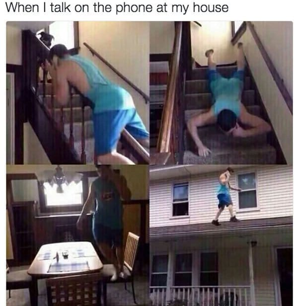 when i talk on the phone at my house