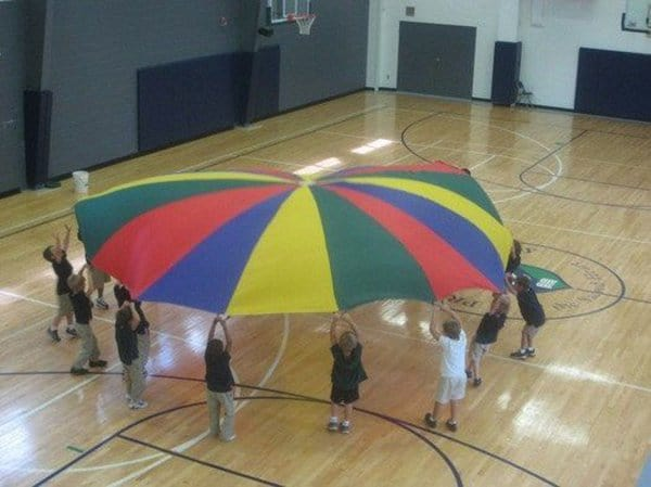 90s Nostalgia parachute gym day