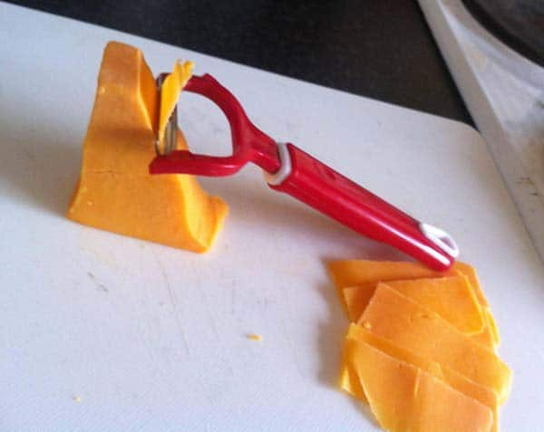 Alternative Uses For Ordinary Things peeler to slice cheese