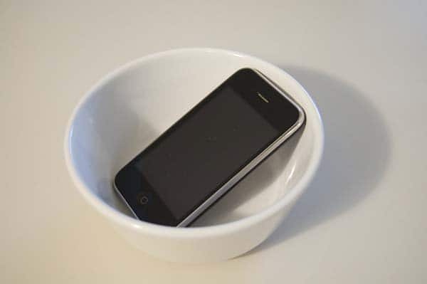 Alternative Uses For Ordinary Things phone in bowl
