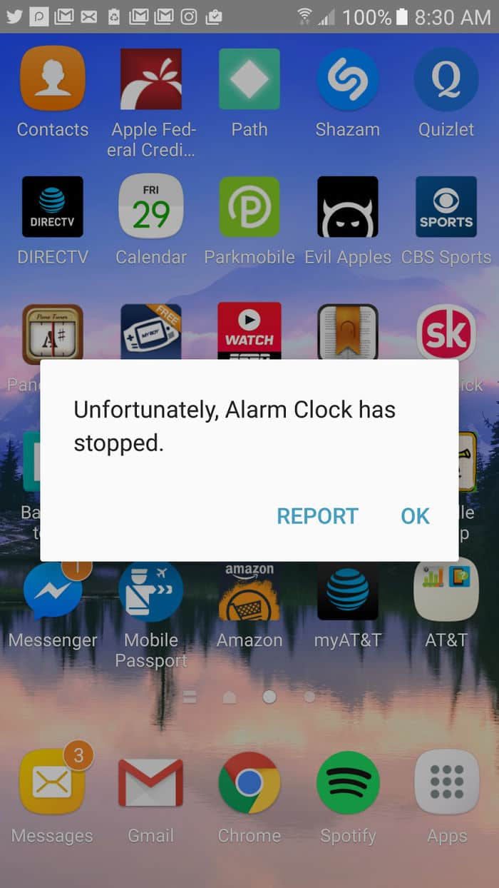 Annoying Things alarm clock has stopped