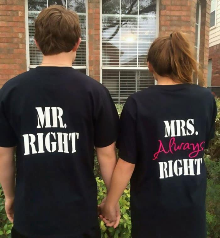 Awesome T-Shirt Pairs mr right mrs always right