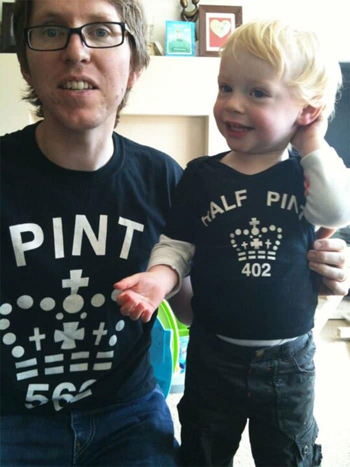 Awesome T-Shirt Pairs pint half pint