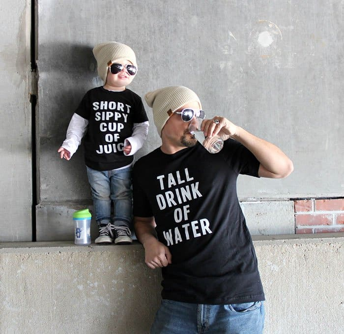 Awesome T-Shirt Pairs tall drink of water small sippy cup