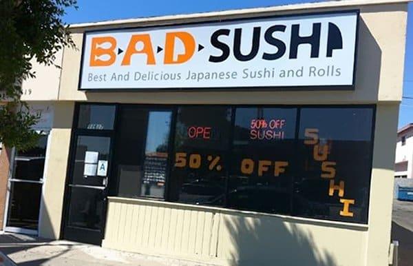 Bar And Restaurant Fails bad sushi