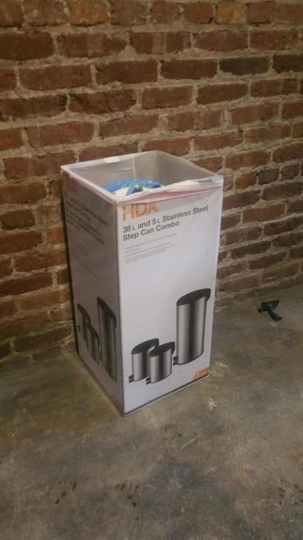 Bar And Restaurant Fails box for trash can