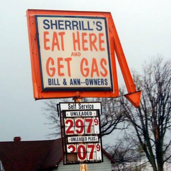 Bar And Restaurant Fails eat here and get gas