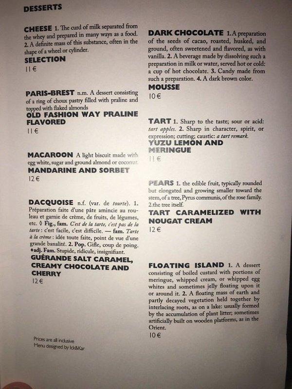 Bar And Restaurant Fails menu used dictionary translate