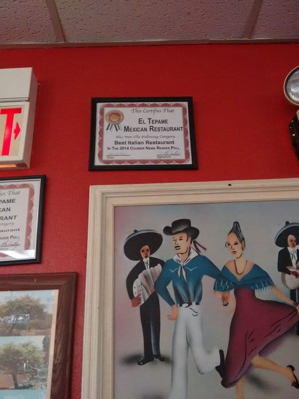 Bar And Restaurant Fails mexican wins best italian