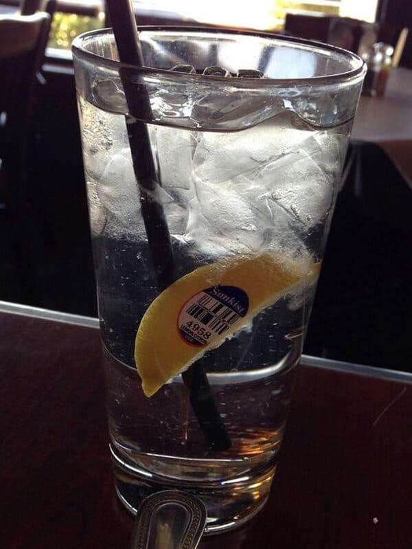 Bar And Restaurant Fails sticker in drink