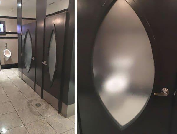 Bar And Restaurant Fails transparent toilet doors