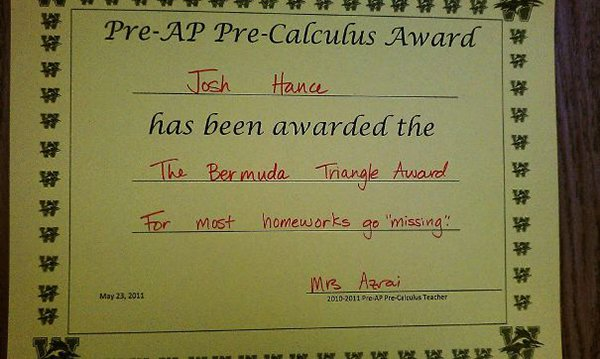 Best Teachers bermuda triangle award