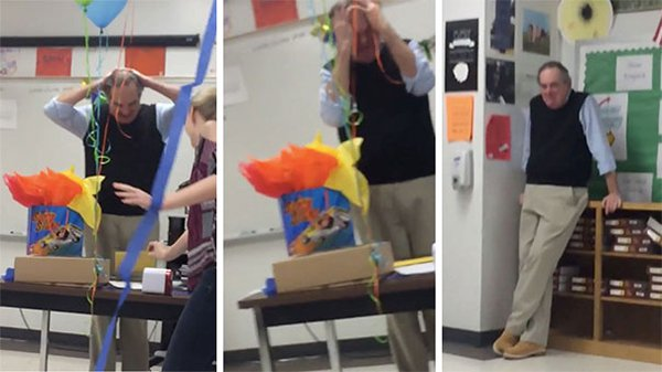 Best Teachers cries at birthday cake