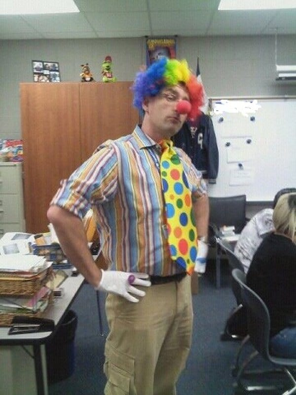 Best Teachers dressed as clown