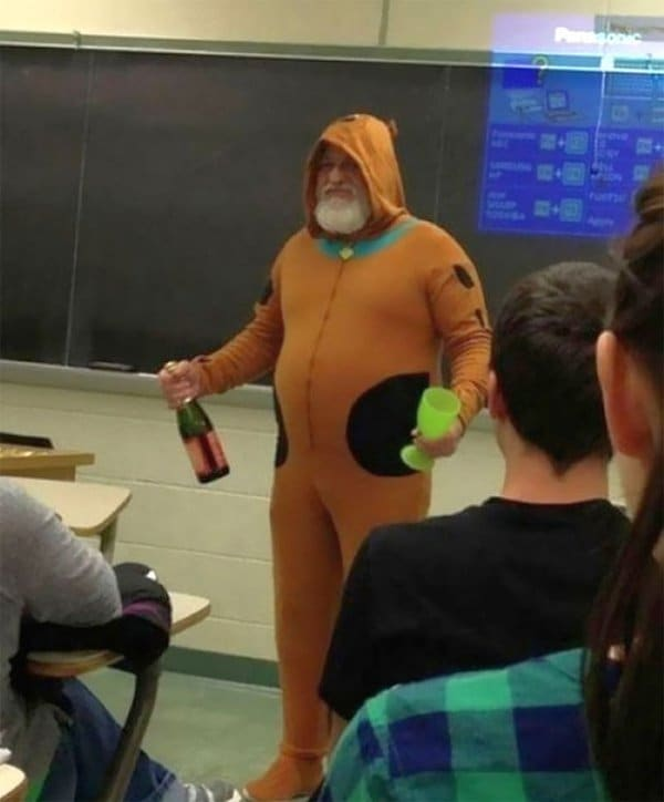 Best Teachers dressed as scooby doo