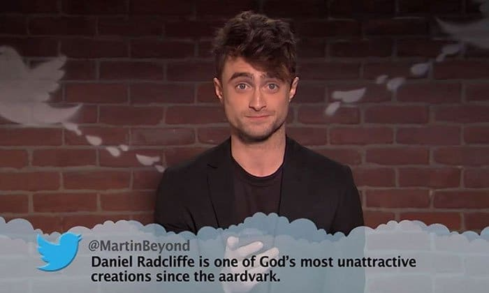 Brutal Tweets About Celebrities daniel radcliffe