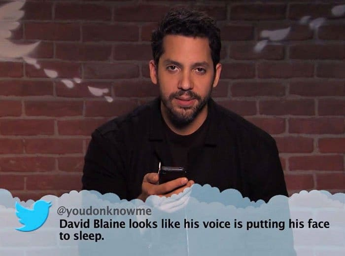 Brutal Tweets About Celebrities david blaine