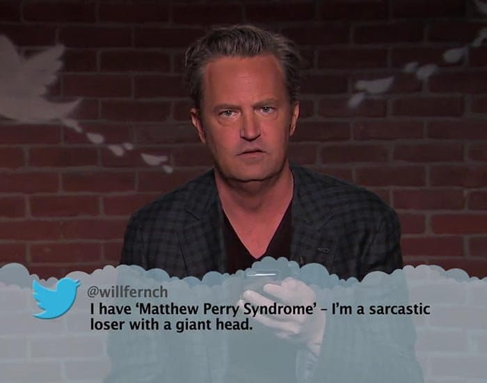 Brutal Tweets About Celebrities matthew perry