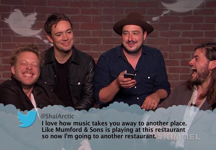 Brutal Tweets About Celebrities mumford and sons