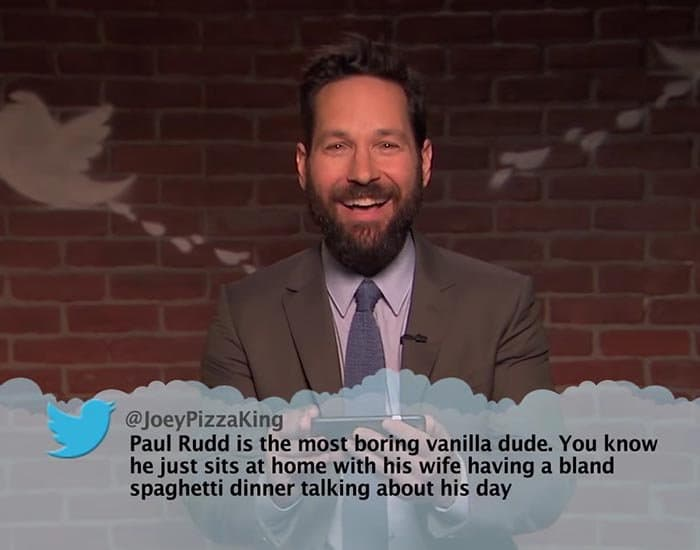 Brutal Tweets About Celebrities paul rudd