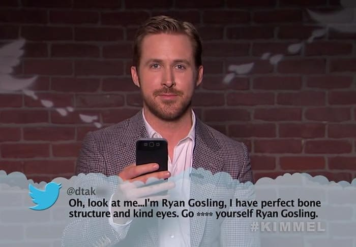 Brutal Tweets About Celebrities ryan gosling