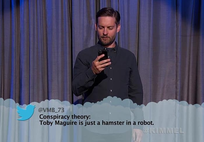 Brutal Tweets About Celebrities toby maguire