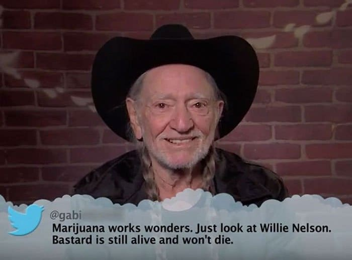 Brutal Tweets About Celebrities willie nelson