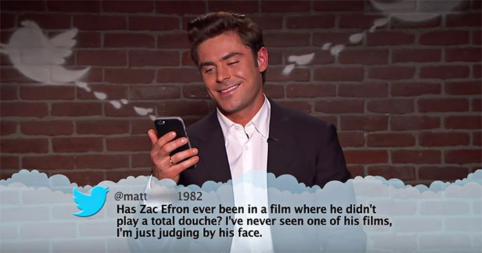 Brutal Tweets About Celebrities zac efron