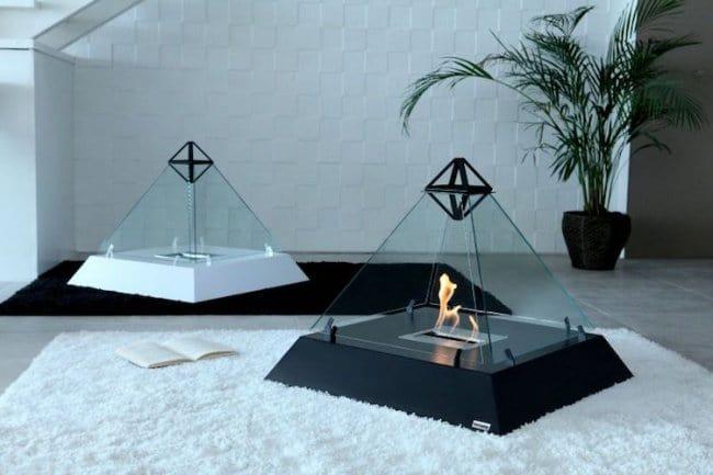 Cool Stuff pyramid fireplace