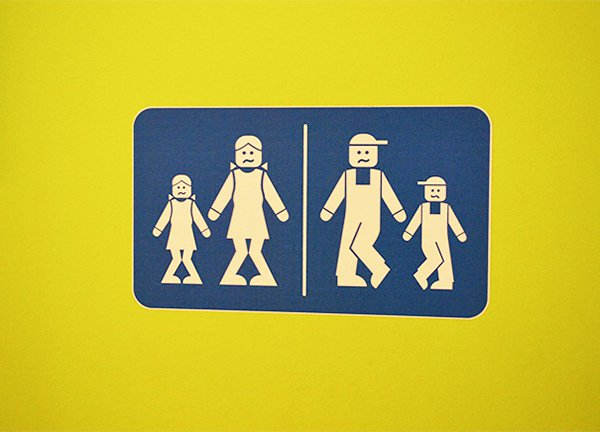 Creative Bathroom Signs legoland