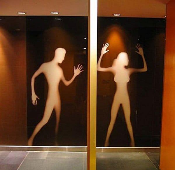 Creative Bathroom Signs outlines