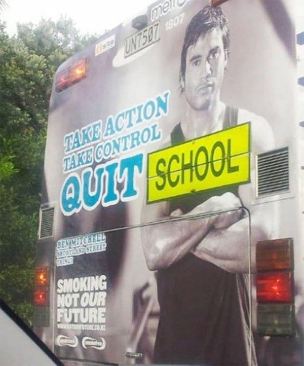 Funny Design Fails quit school