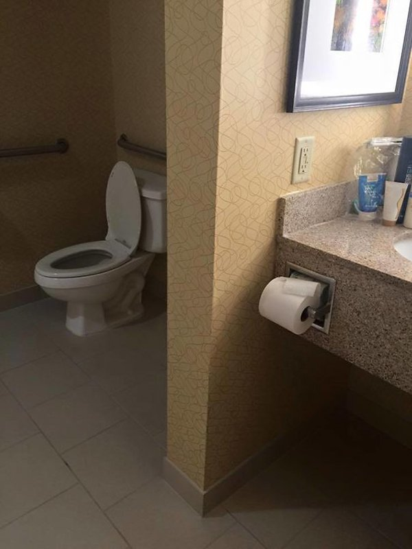 Funny Design Fails toilet paper far away