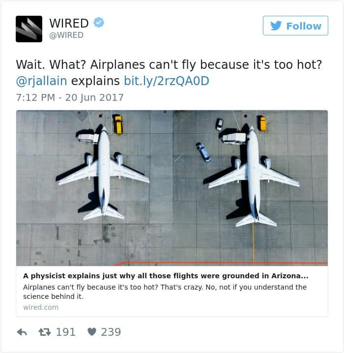 High Temperatures Arizona Pictures Things Melting airplanes cant fly