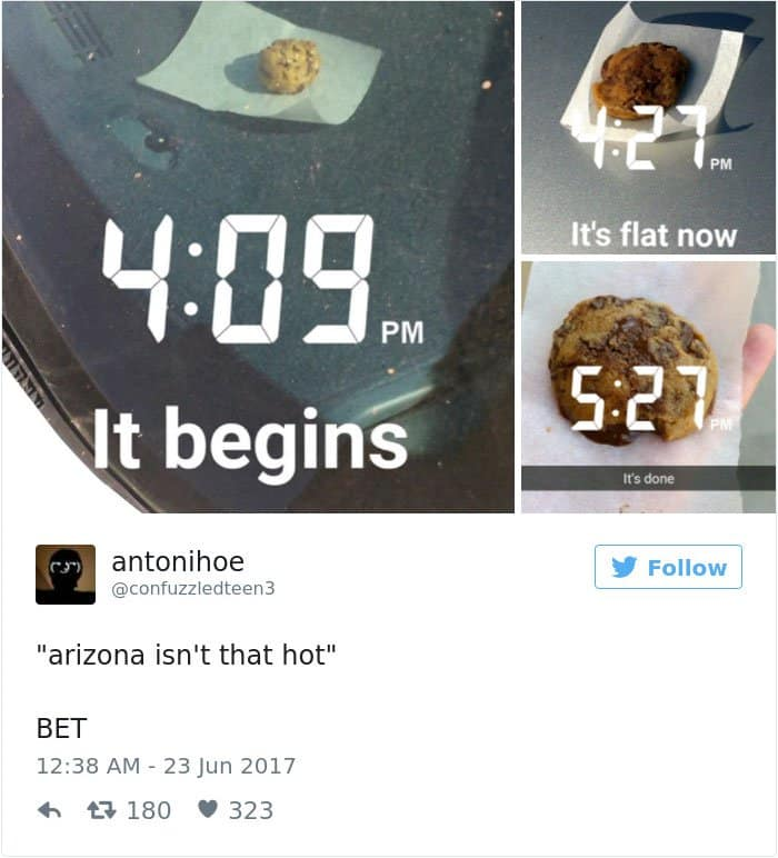 High Temperatures Arizona Pictures Things Melting cookie cooking in car