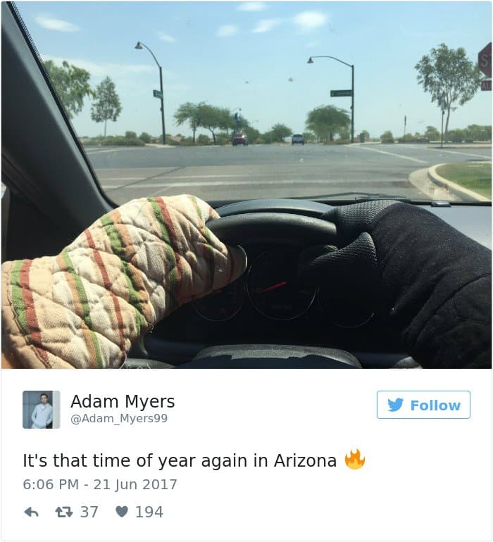 High Temperatures Arizona Pictures Things Melting gloves for driving