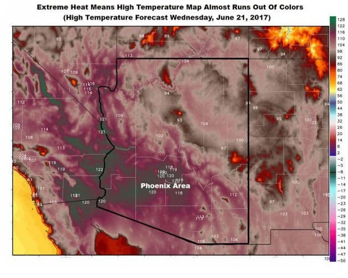 High Temperatures Arizona Pictures Things Melting map run out of colors