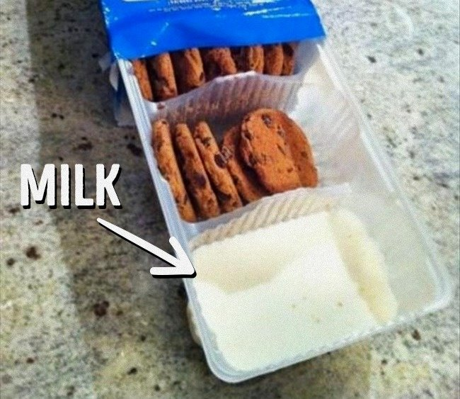 Ingenious Life Hacks milk in cookie tray