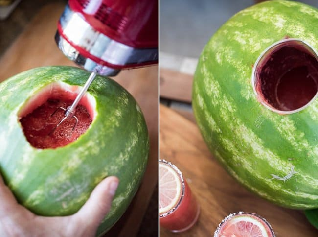 Ingenious Life Hacks serve beverages out of melon